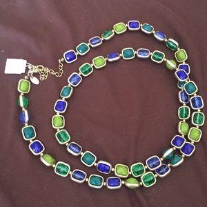 Lia Sophia Jeweled Chain Necklace, Long, NWT